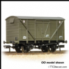 FARISH 373-704 BR 12T Ventilated Van Planked Sides BR Departmental Green Wthrd *PRE ORDER £17.96*